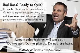 Quit Work Meme - solomon quote bad boss ready to quit