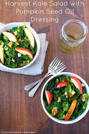 kara lydon harvest kale salad with pumpkin seed dressing