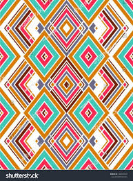 geometric pattern hipster style mexican indian stock vector