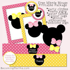 minnie mouse party decor martha