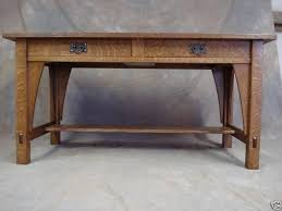 Arts And Crafts Writing Desk Library Table 615 Mission Oak Arts Crafts Desk Woodruff Custom
