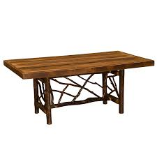 hickory twig dining table hickory log furniture the log