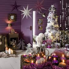 purple and silver christmas tree decorating ideas christmas