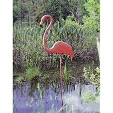 10 x large pink flamingo 3 dimensional yard ornaments