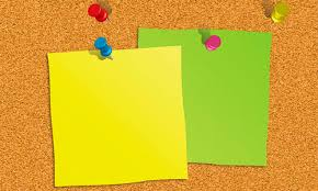 Pin Board Illustrator Special Effects 8 Notice Board With Sticky Notes