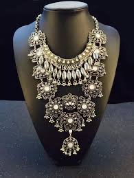 antique necklace images Wholesale hot antique silver filigree flower statement bib jpg