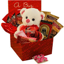 big valentines day a big for you plush puppy care package gift box of