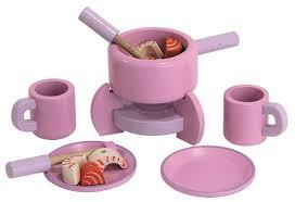 spielküche zubehör holz fondue set aus holz für spielküche pink mit zubehör mentari