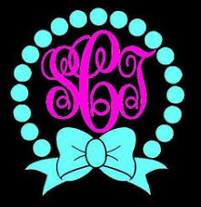 bow monogram image result for circle dot frame with bow monogram vinyl