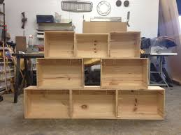Wooden Crate Shelf Diy by Easy Shelves From Old Wooden Crates 4 Steps
