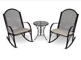 Wicker Outdoor Rocking Chairs The Garden Rocking Chair 3 Piece Set Tortuga Outdoor