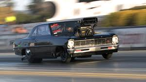nomad drag car wheels up chevy nova outlaw 10 5 youtube