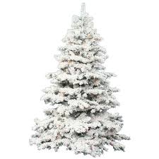 flocked tree vickerman 7 5 flocked alaskan artificial christmas tree with multi