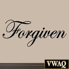 forgiven decal wall quote inspirational sayings stickers quotes forgiven decal wall quote inspirational sayings stickers quotes art jesus vin