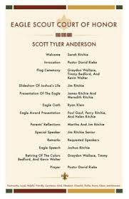 eagle scout ceremony programs templates eagle scout pinterest