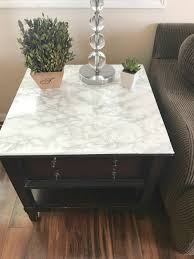 Diy Marble Coffee Table by Faux Marble Table Diy A Cup Full Of Sass