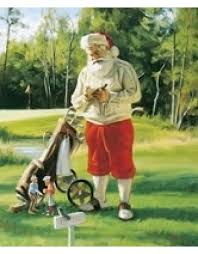 tom browning christmas cards golfing santa collection set of 15