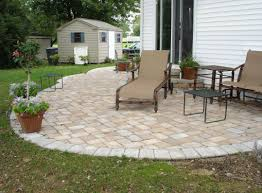 Large Pavers For Patio Backyard Concrete Paver Patio Design Ideas Backyard Patio Paver