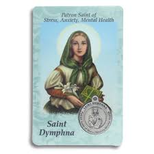 prayer cards dymphna prayer card with medal stress