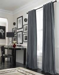 Gray And Red Curtains Cool Grey Curtain Ideas For Large Windows Modern Home Office Table