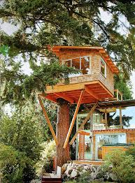 image result for mid century modern tree house treehouse1