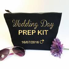 bridal makeup bag wedding day prep kit custom makeup bag with date bridal cosmetic