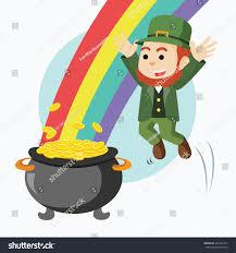 leprechaun jump pot gold rainbow stock vector 476761312 shutterstock