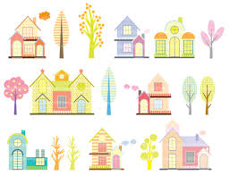 Cute Homes by Homes Clipart