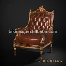 antique royal style one seater sofa luxury gold painted genuine