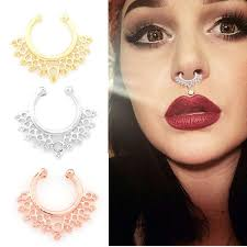 nose jewelry rings images Nose rings studs fake nose ring unisex punk non piercing fake nose jpg