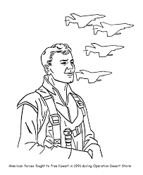 veterans coloring pages gulf war air force veterans