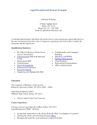 bankruptcy attorney cover letter legal receptionist resume
