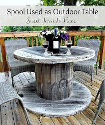 outdoor tables made out of wooden wire spools wooden spool table wooden designs