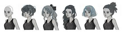 of the hairstyles images how to draw hair step by step with downloadable pdf