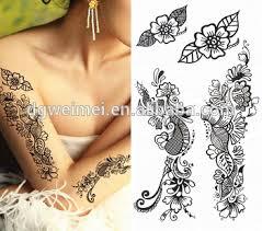 black henna full stencil mehndi henna tattoo cones temporary