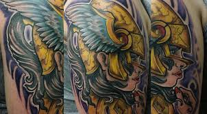 stained inc tattoos u0026 piercing full color valkyrie tattoo