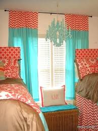Coral And Gray Curtains Aqua Bedroom Curtains Coral Bedroom Curtains Two Color Curtains