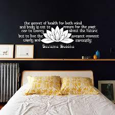 Lotus Flower Wall Decal Om by Art Decor Bedroom Headboard Lotus Wall Sticker Buddha Sayings Text