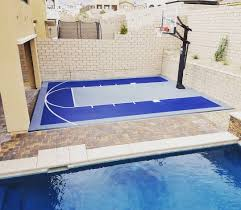backyard basketball court easy simple landscaping ideas