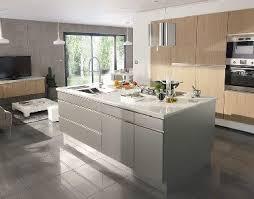 hotte cuisine castorama cuisine ouverte sur salon avec îlot inox design castorama