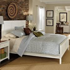 White Wood Bed Frame Home