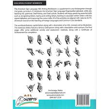 american sign language abc writing workbook teacher u0027s sign