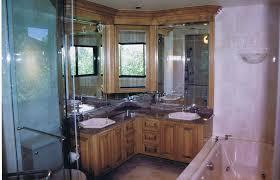 vanité chambre de bain ensemble vanite erable teint et laque hauteur miroir salle bains