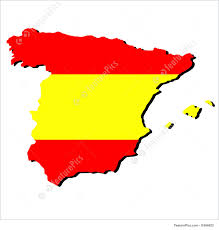 Maps Of Spain Illustration Of Map Of Spain With Flag