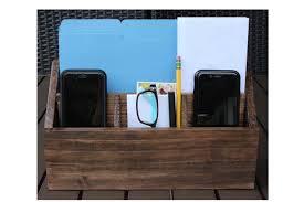 desk organizer charging station wood countertop organizer docking