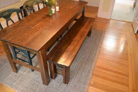 build a bench for dining table http www foxandhammer com 2011 08 23 farmhouse bench diy diy