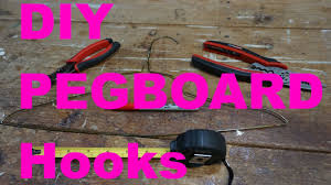 diy pegboard hooks use tools at home youtube