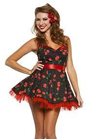 pin up girl costume women s 50 s cherry pop pinup girl costume s