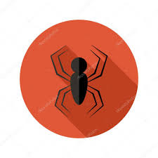 icon halloween halloween spider flat circle icon over red u2014 stock vector