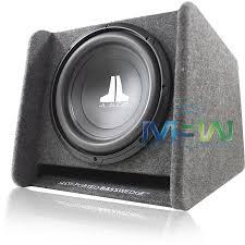 jl audi jl audio cp112 w0v3 single 12 12w0v3 4 loaded ported enclosure
